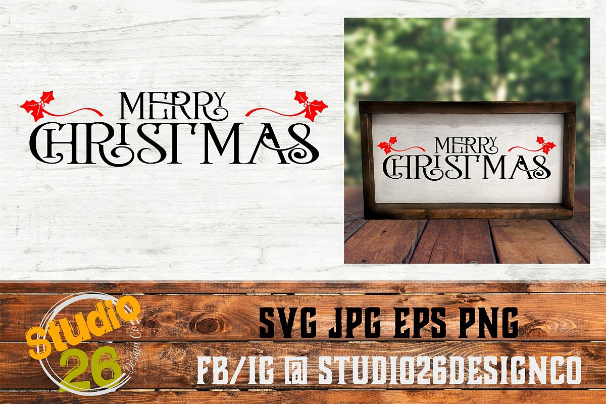 Merry Christmas - SVG PNG EPS example image 1