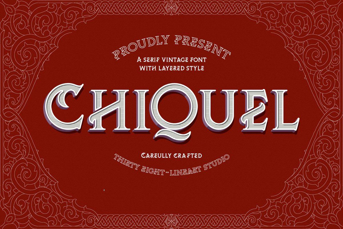 ChiQuel Serif Vintage example image 1