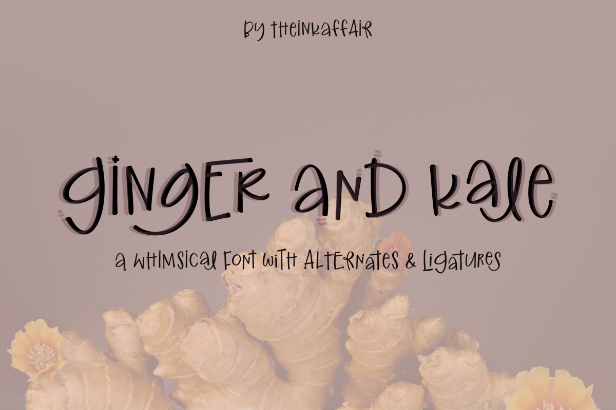 Ginger and Kale - a fun whimsical font example image 1