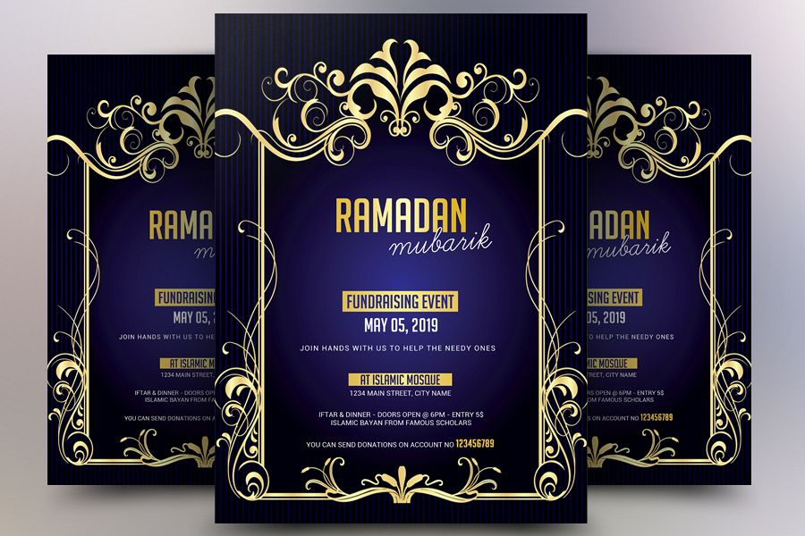 Ramadan Fundraising Event Flyer example image 1