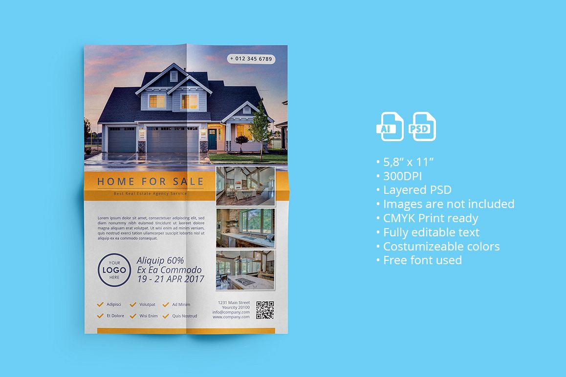 Real Estate Flyer 01 example image 1
