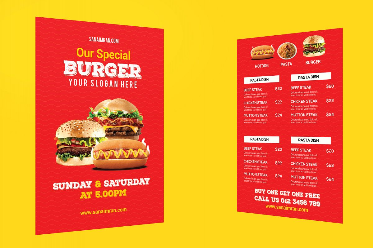Restaurant Flyer Template- example image 1