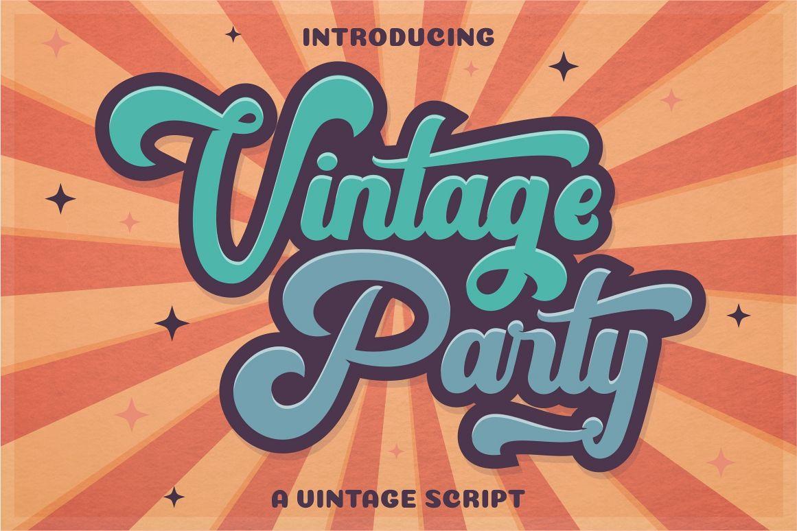 Vintage Party - Bold Retro Script example image 1