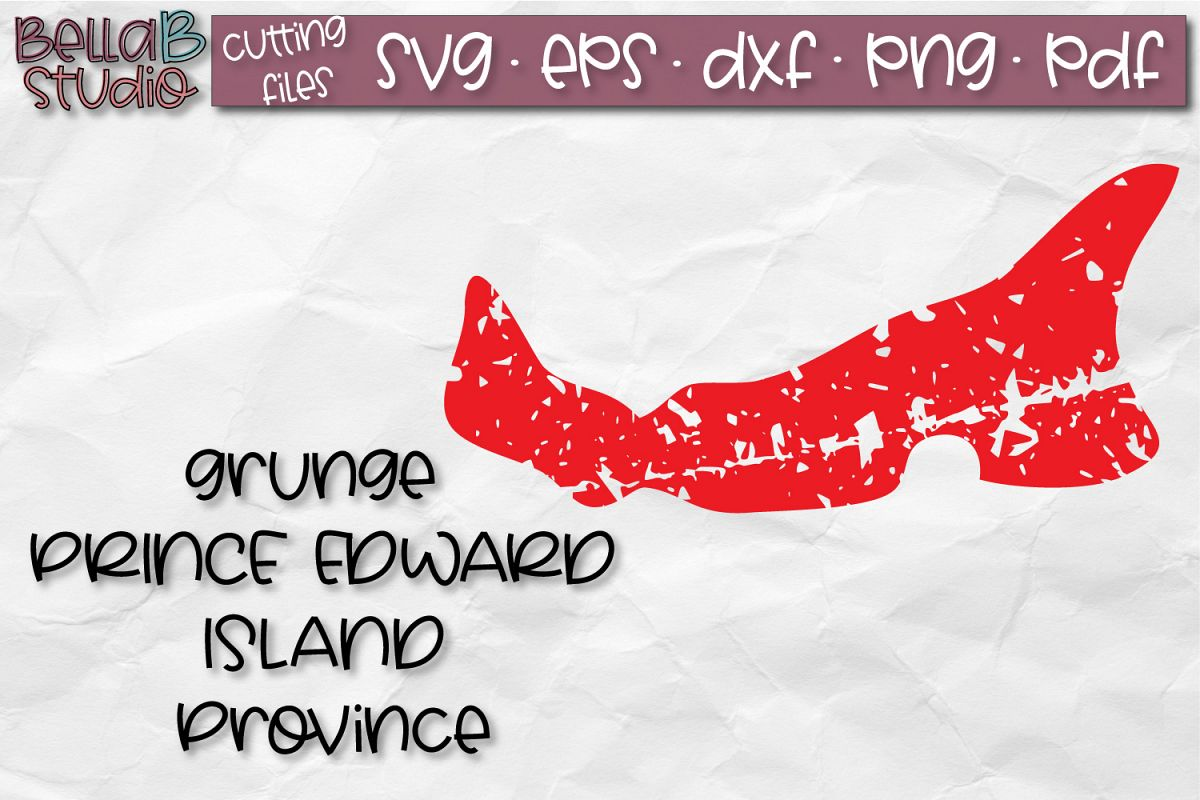 Prince Edward Island SVG, Canada, Canadian SVG, Distressed example image 1