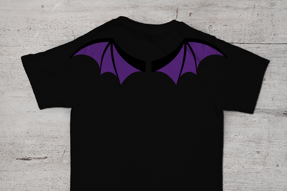 Halloween Bat Or Dragon Wings SVG File Cutting Template Example Image 1