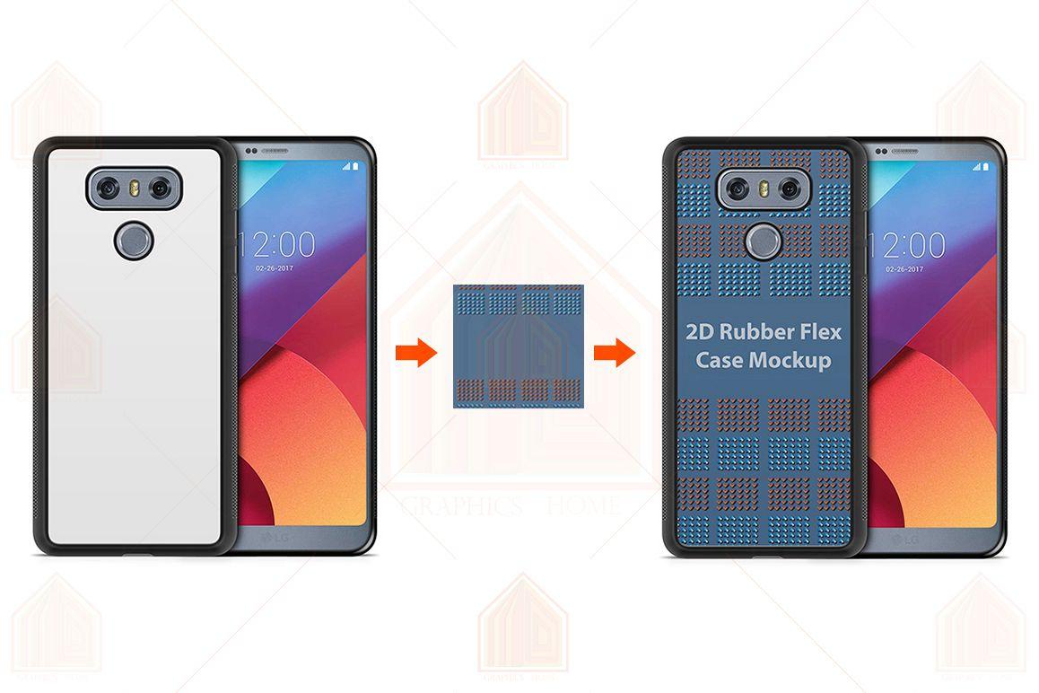 LG G6 2d RubberFlex Case Design Mockup Back-Front example image 1