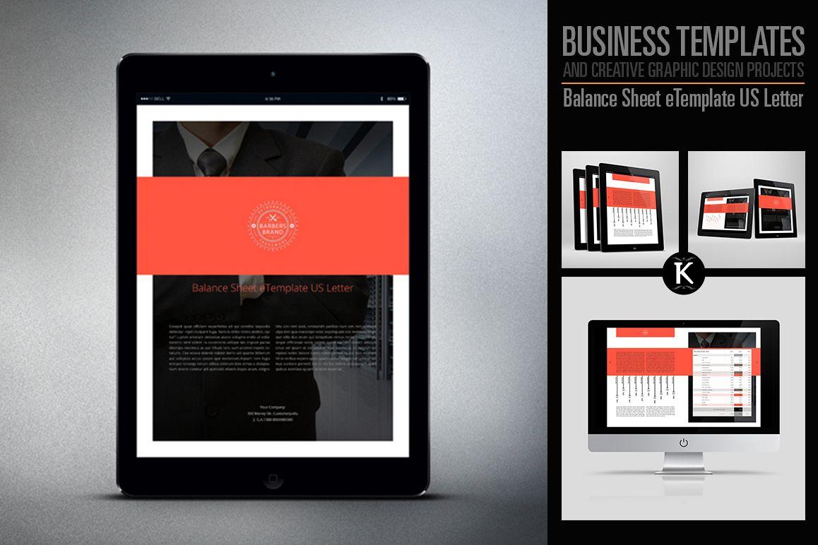 Balance Sheet eTemplate US Letter example image 1