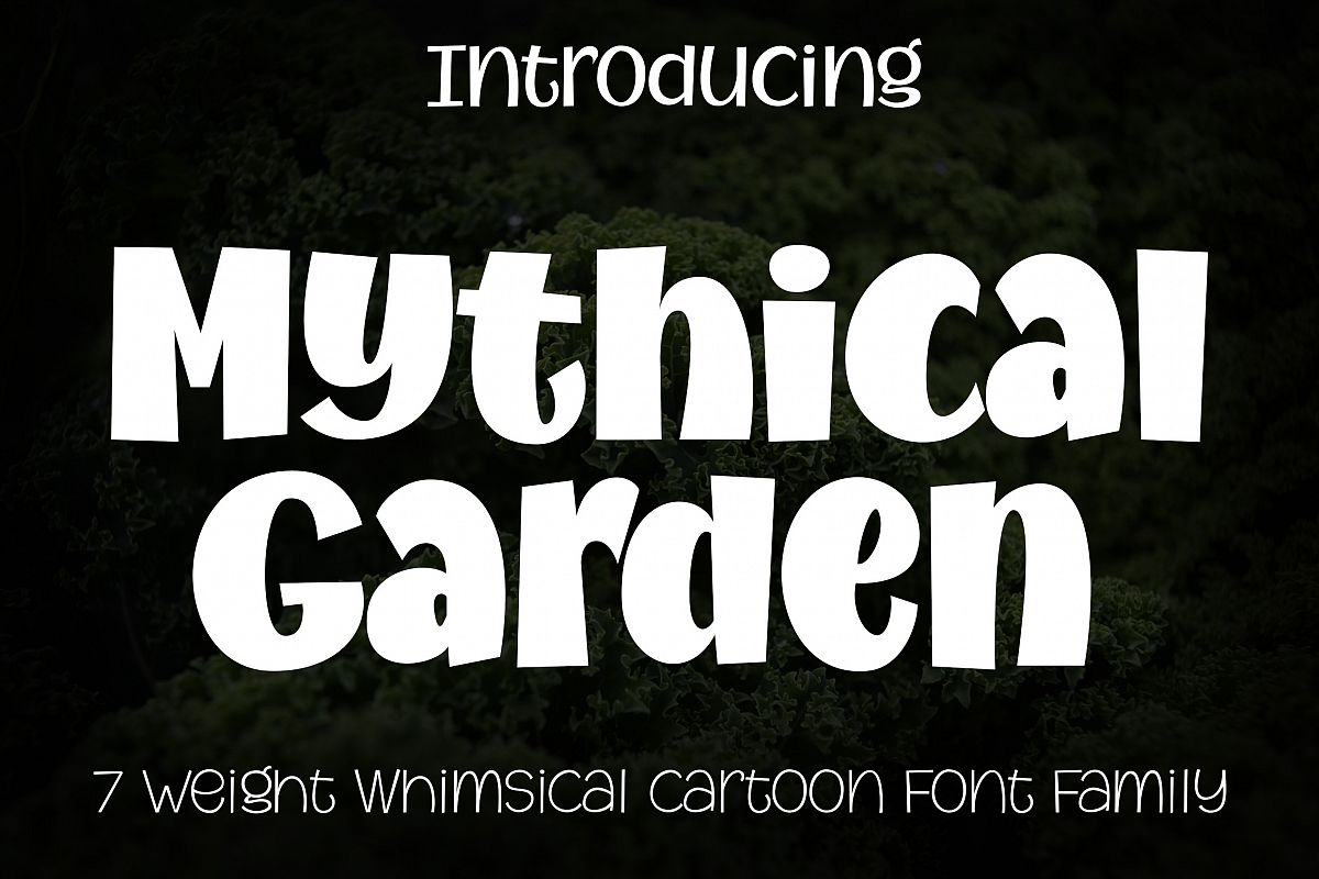 Mythical Garden Font Family example image 1