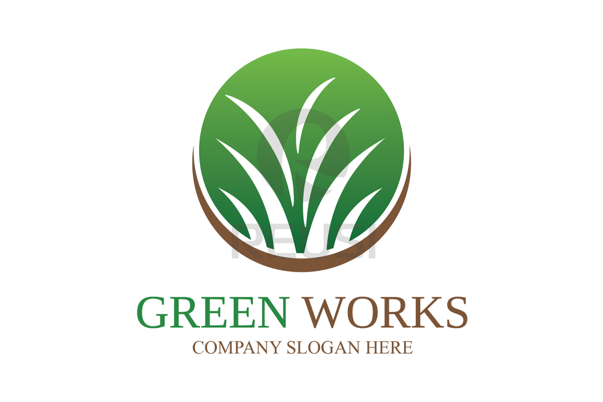 Greenworks Landscaping  Logo Template example image 1