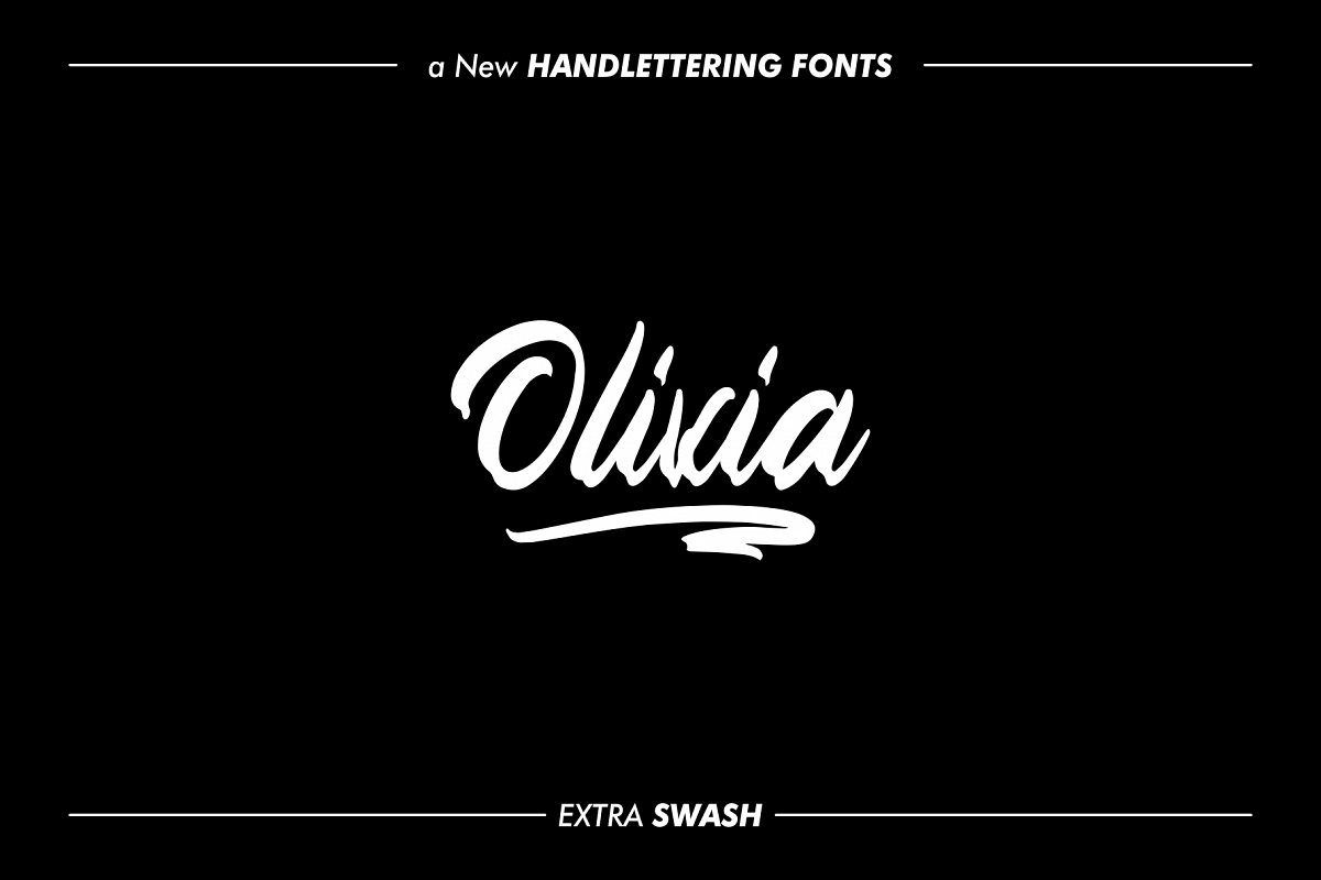 OLIVIA Handlettering Fonts example image 1