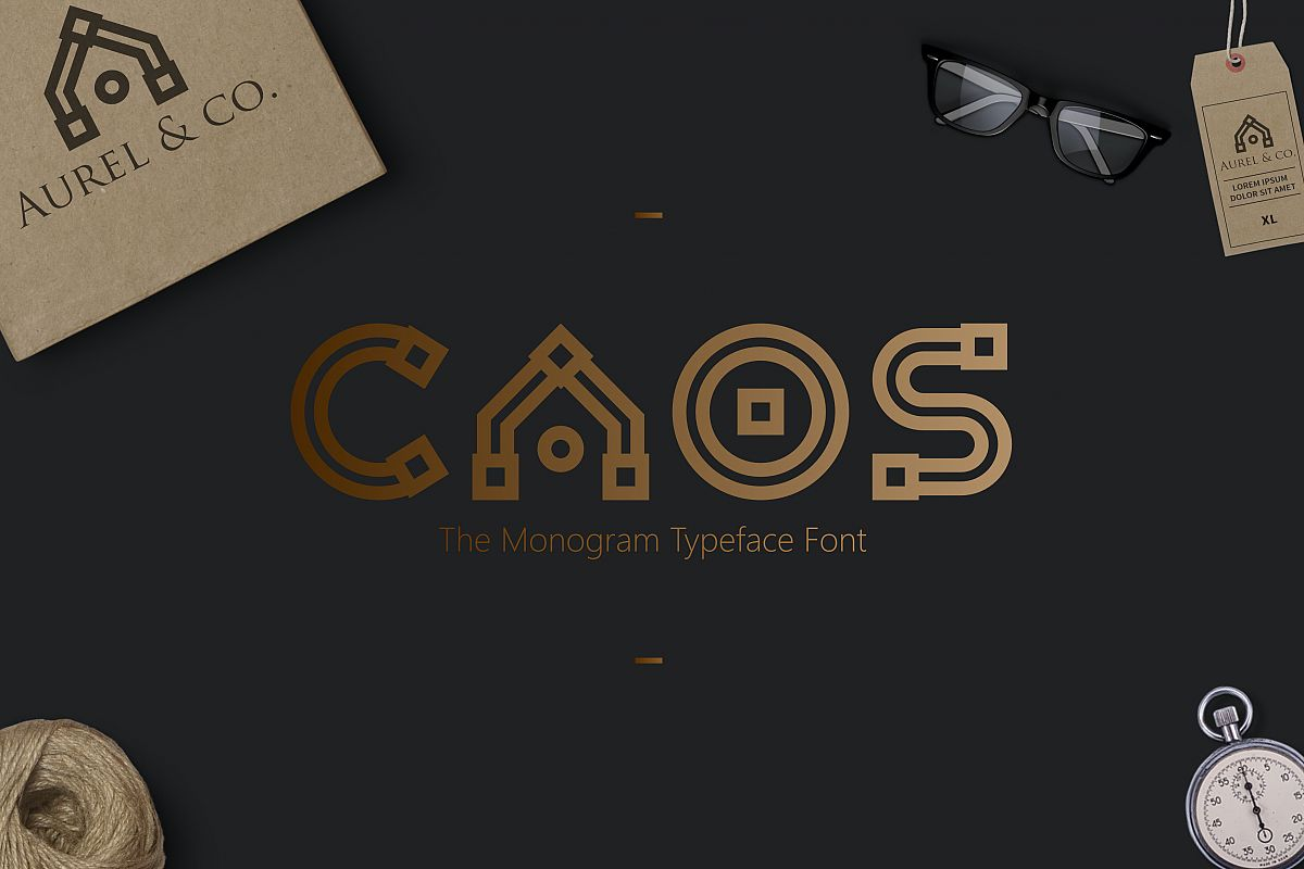 CAOS | The Logo Typeface example image 1