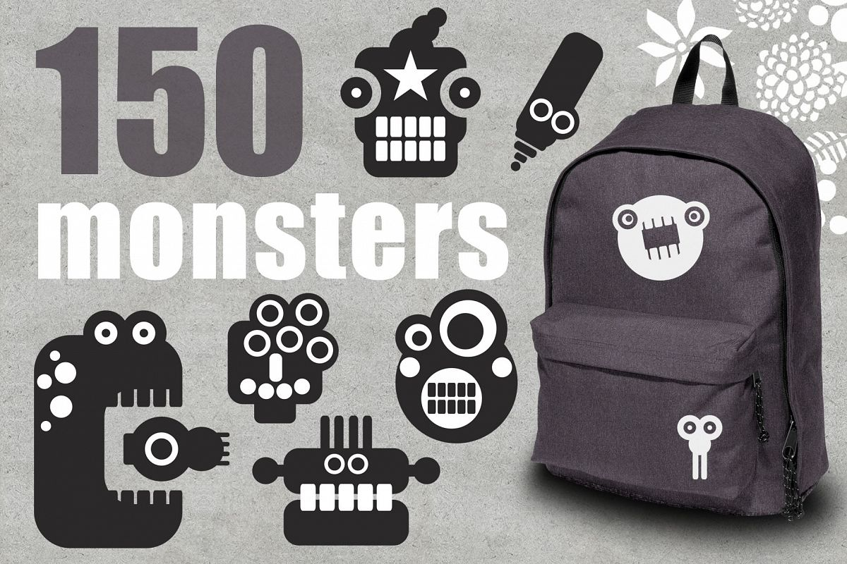 150 monsters patterns example image 1