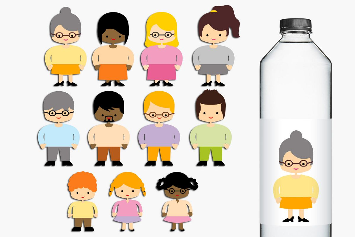 Students and Teachers, People Clip Art Illustrations example image 1