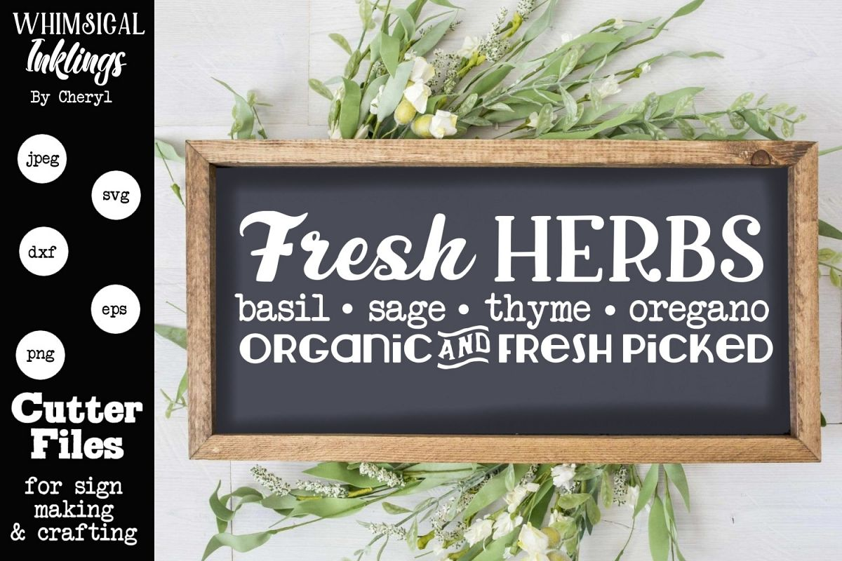 Fresh Herbs SVG example image 1