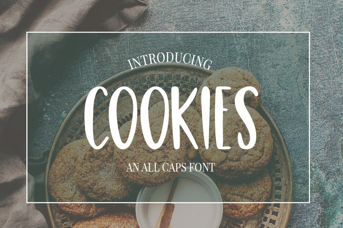 Cute, Casual, Handwritten font COOKIES example image