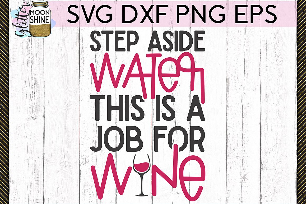 Step Aside Water SVG DXF PNG EPS Cutting Files example image 1