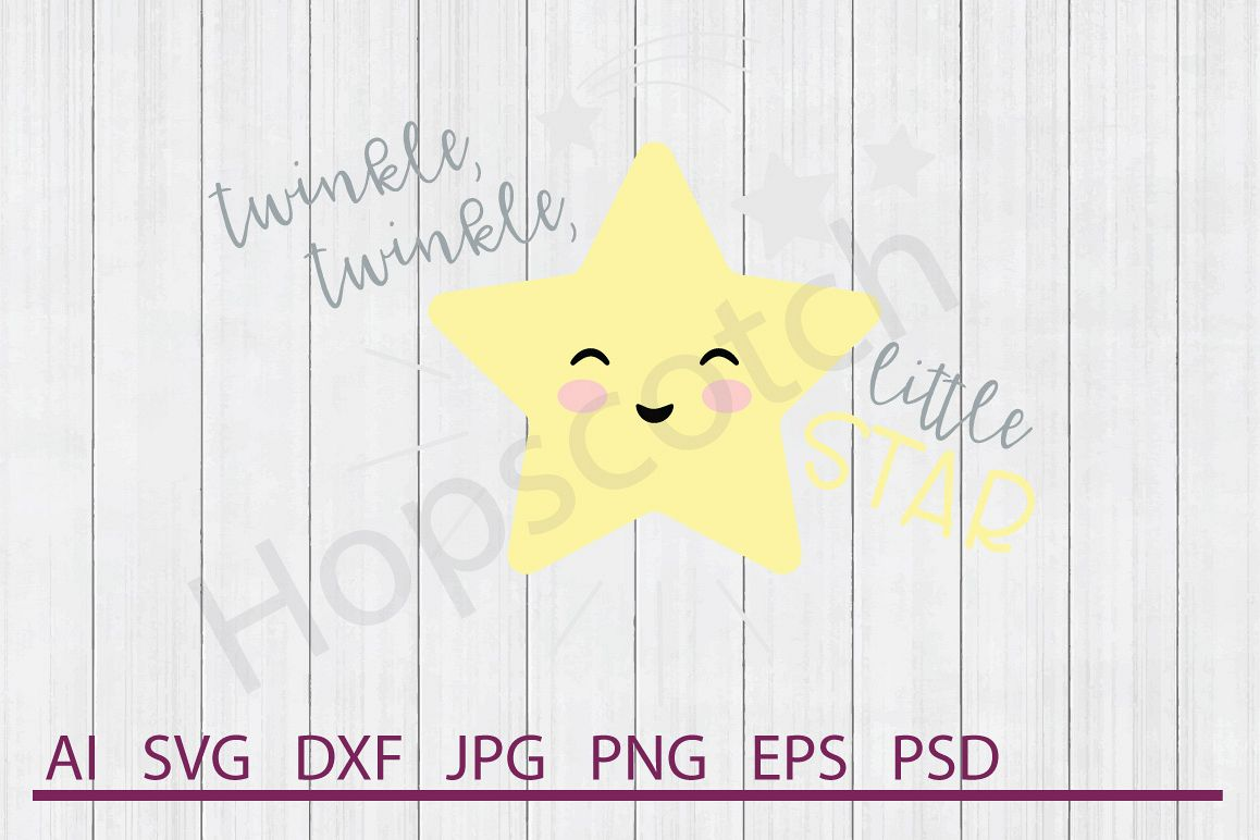 Star SVG, Twinkle Twinkle SVG, DXF File, Cuttable File example image 1
