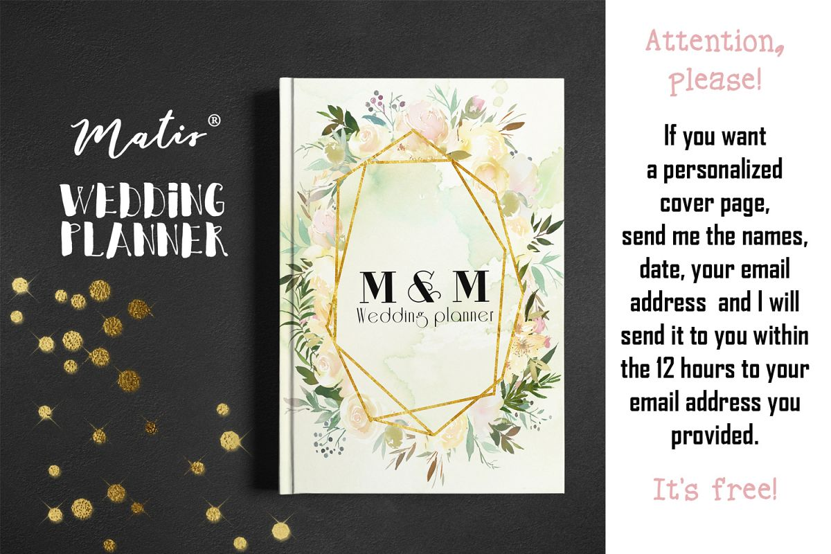 Wedding planner printable / personalization included example image 1