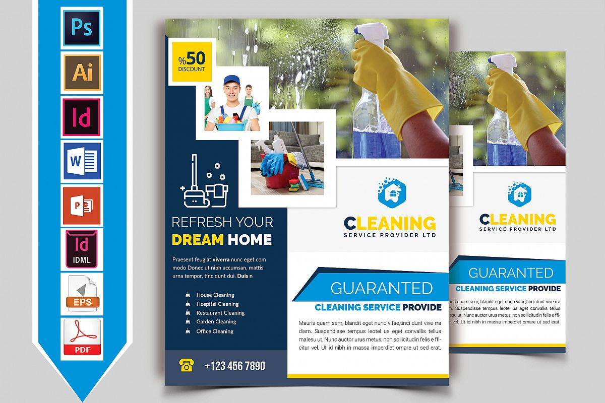 Cleaning Service Flyer Vol-07 example image 1