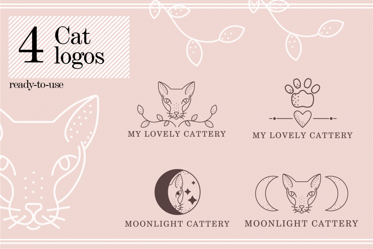 4 Cat Logos example image 1