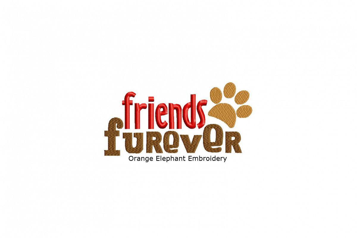 Friends Furever Unique Urban Machine Embroidery Design digital File example image 1