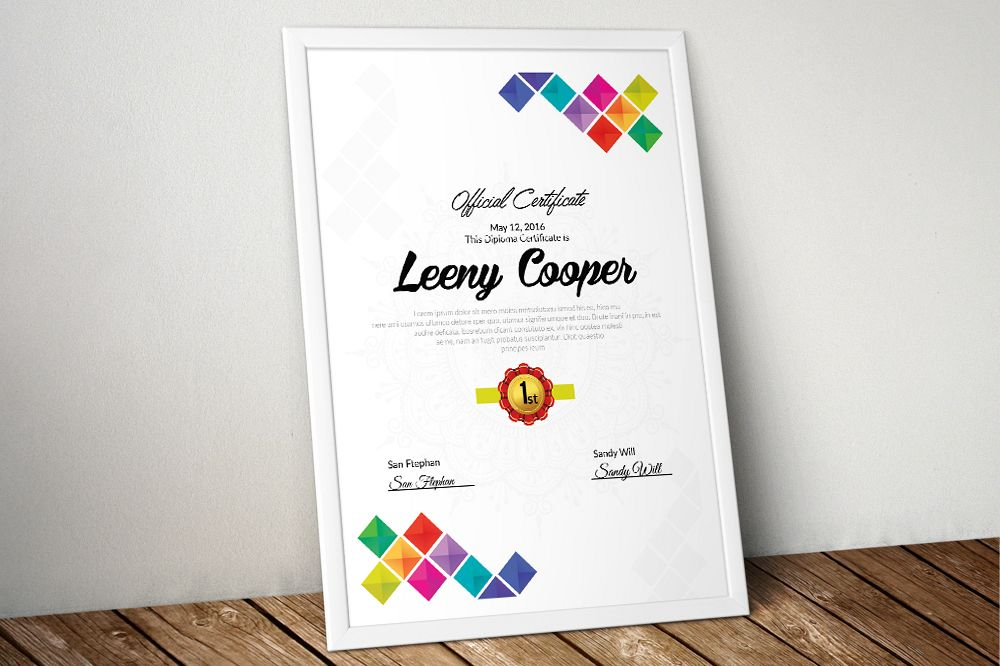 Company Certificate Template example image 1