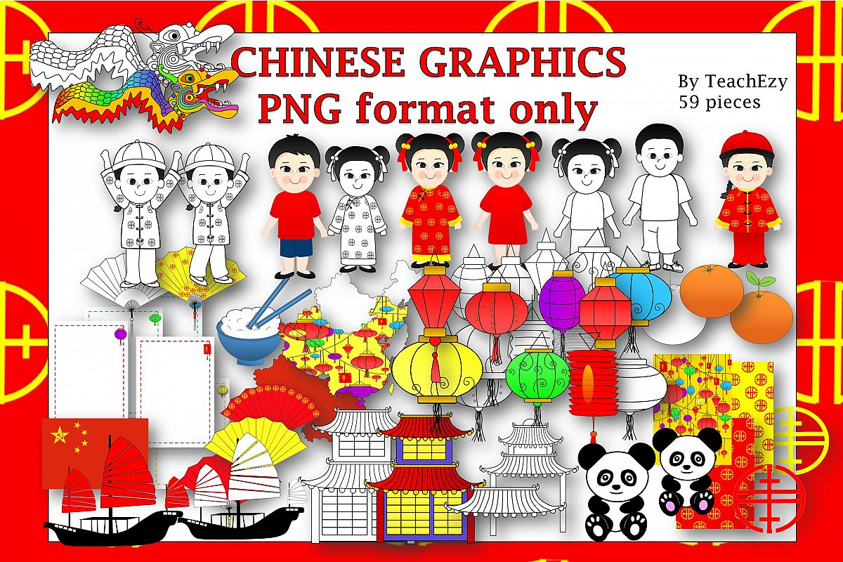 Chinese Theme Graphics example image 1