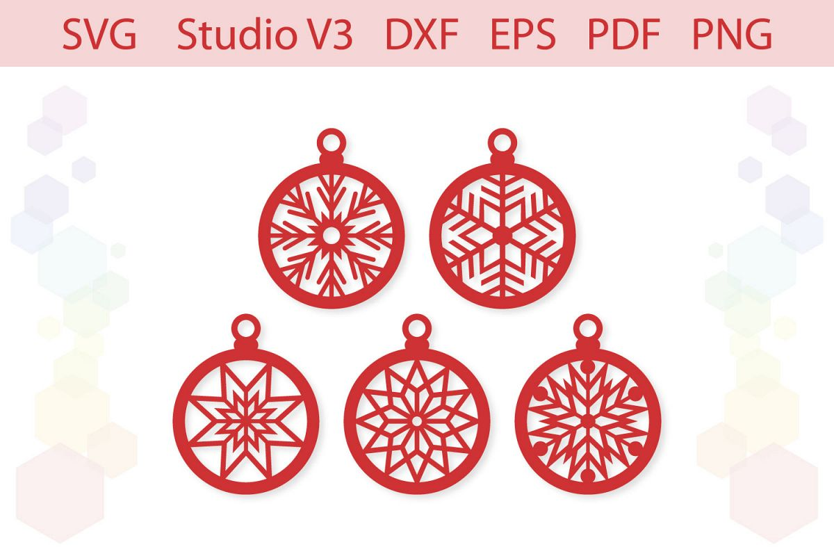 Christmas Ornaments Christmas gift tags cut file example image 1