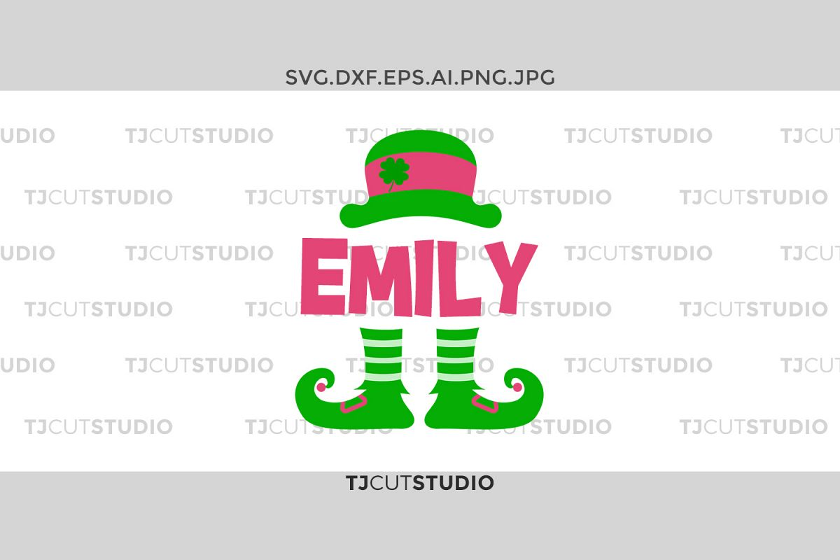 Leprechaun svg, St Patrick Monogram svg, Leprechaun Hat svg, Girls svg, Svg Files for Silhouette Cameo or Cricut, Commercial & Personal Use. example image 1