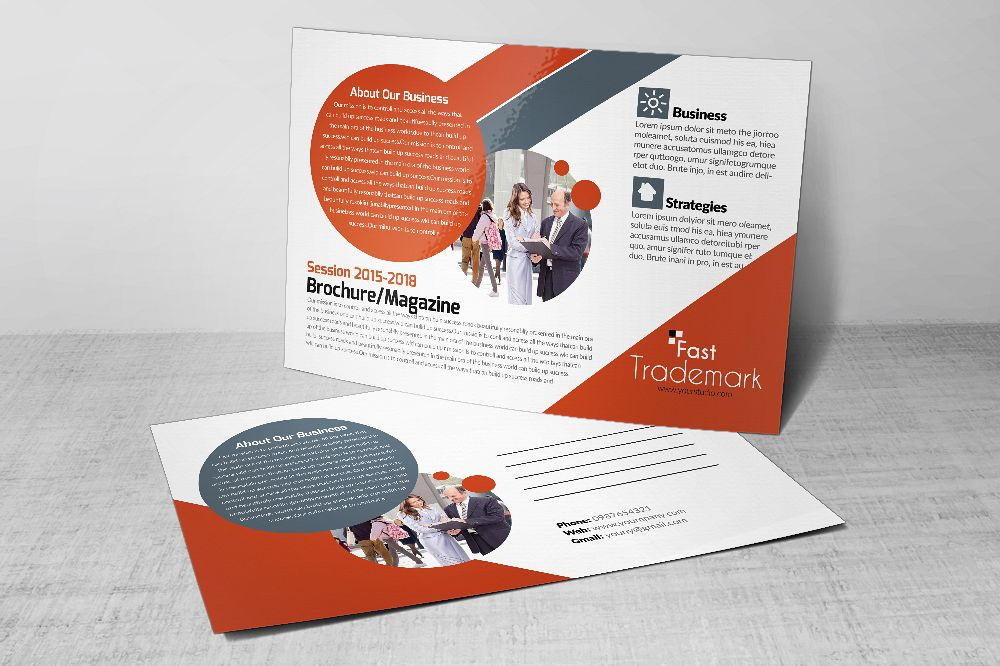 Latest  Business Postcards Templates example image 1