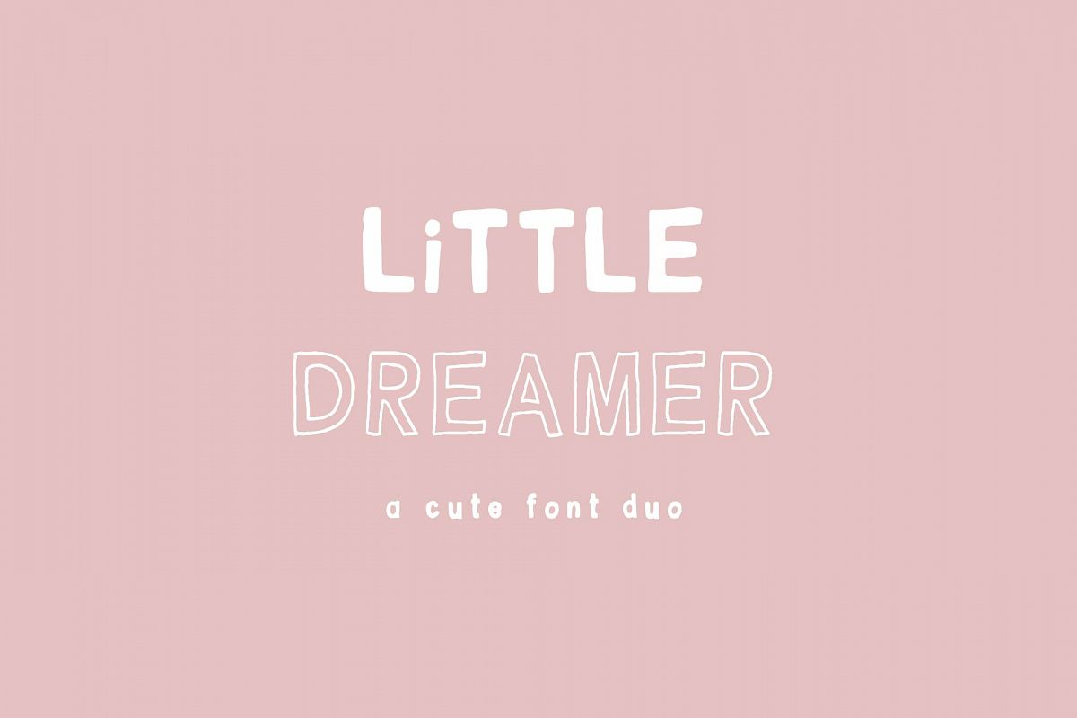 Little Dreamer Font Duo example image 1
