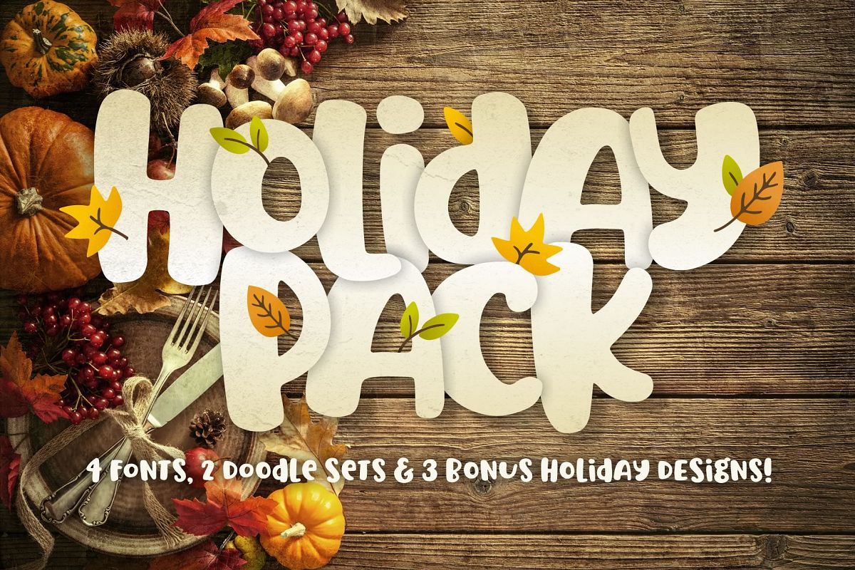 Holiday Font Pack example image 1