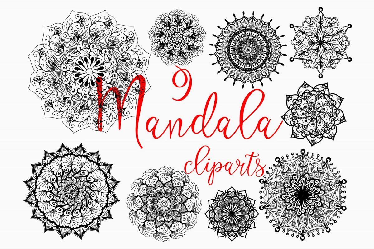 Hand drawn mandala set example image 1
