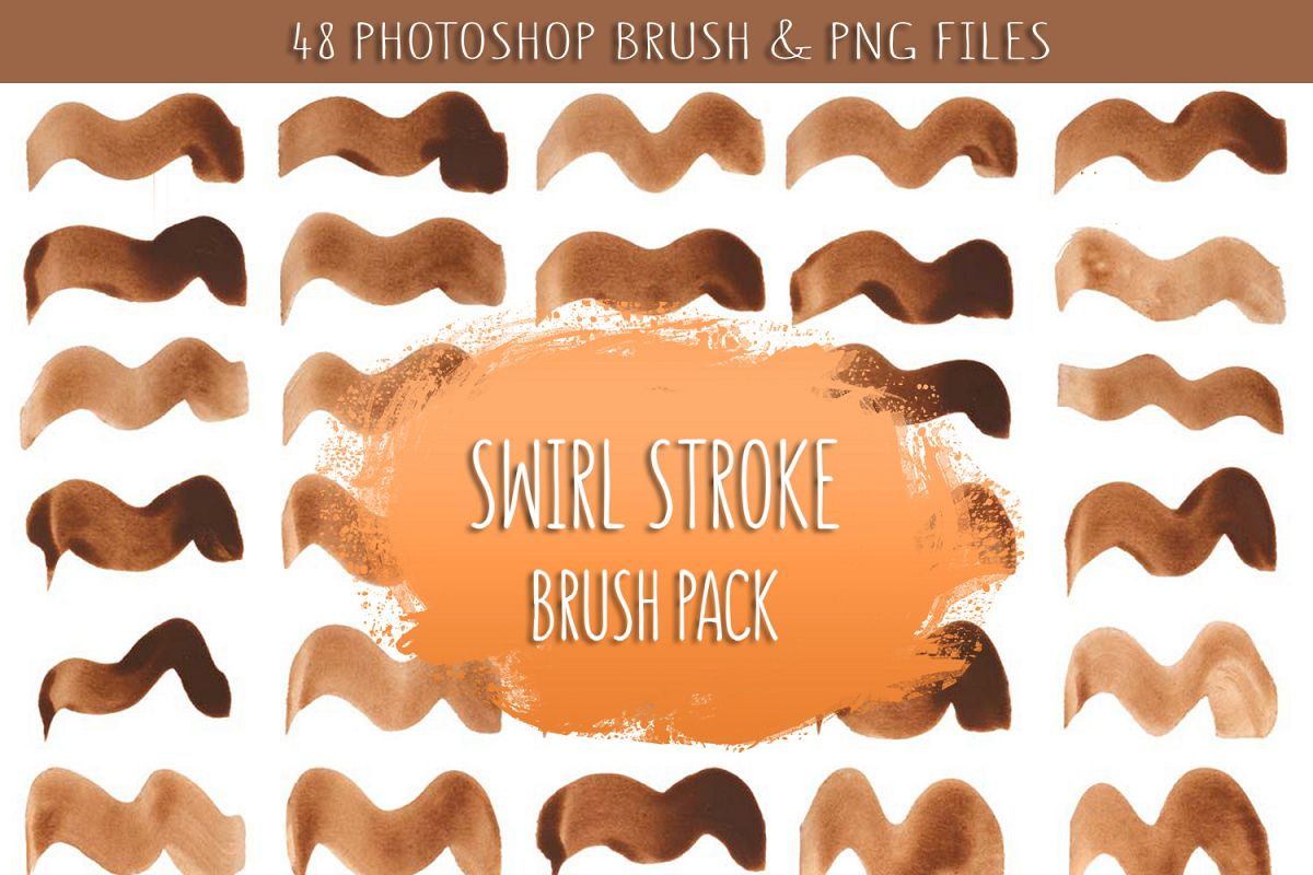 watercolor swirl brush png by creativ design bundles