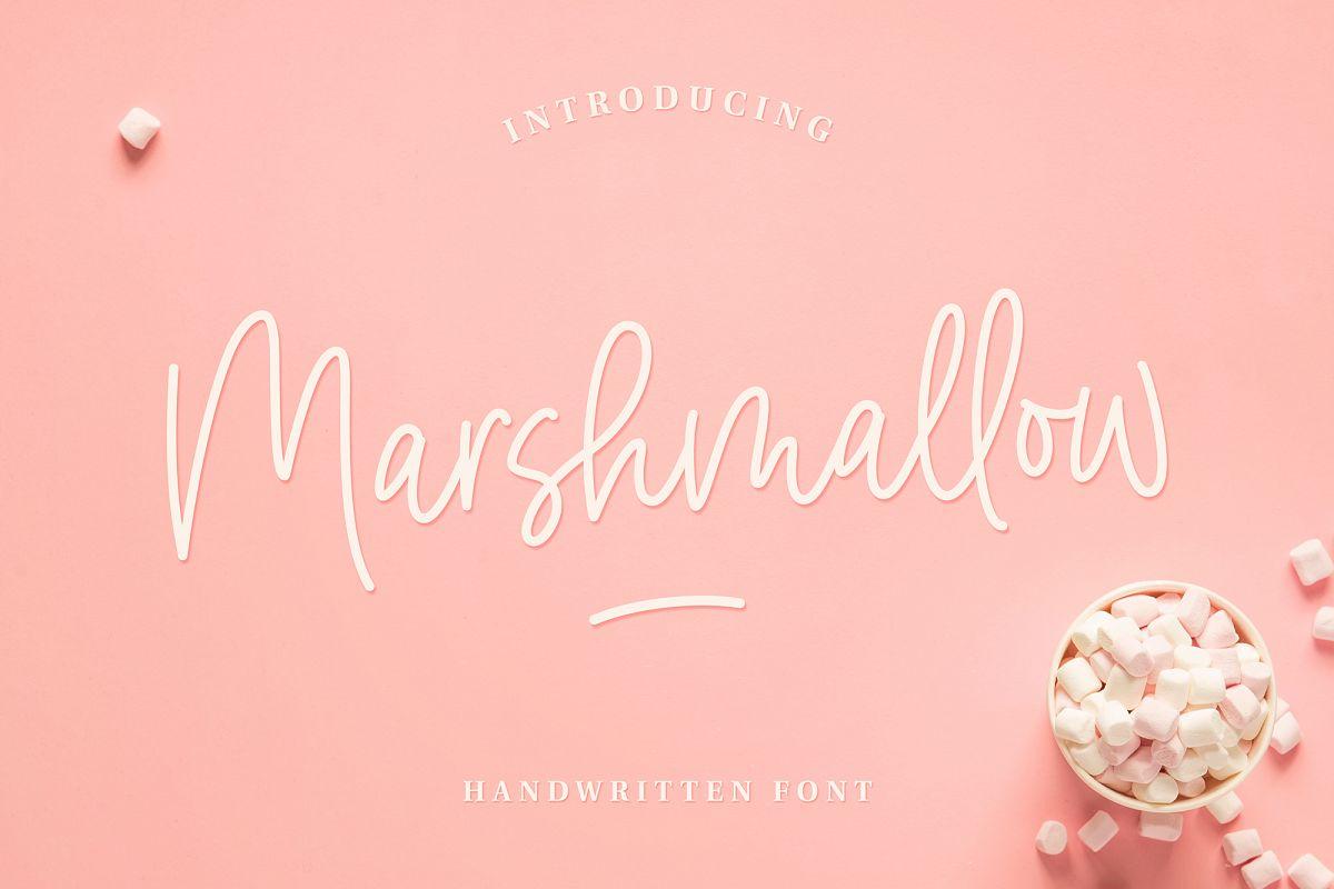 Marshmallow Handwritten Font example image 1