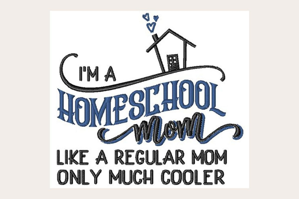 Homeschool Mom Machine Embroidery Design