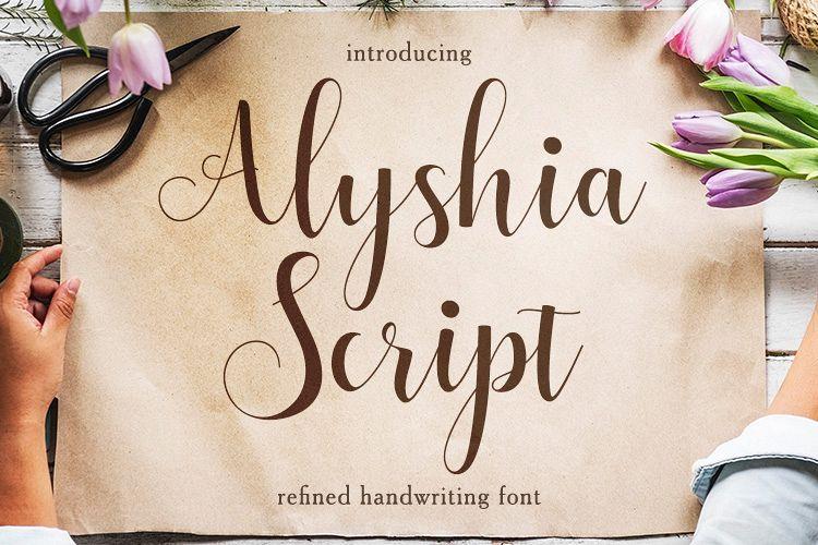 Alyshia Script example image 1