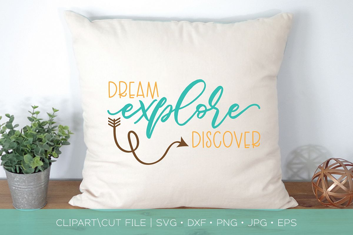 Dream Explore Discover SVG DXF Cut File example image 1