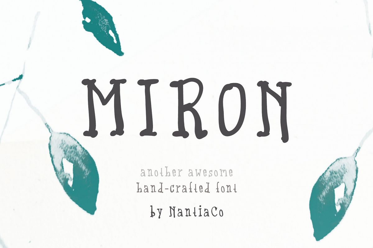 Miron Font Another Awesome Hand-Crafted Font example image 1