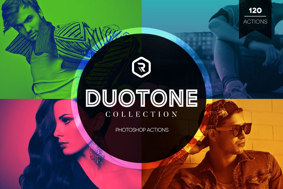 Duotone Collection Photoshop Actions example image 1