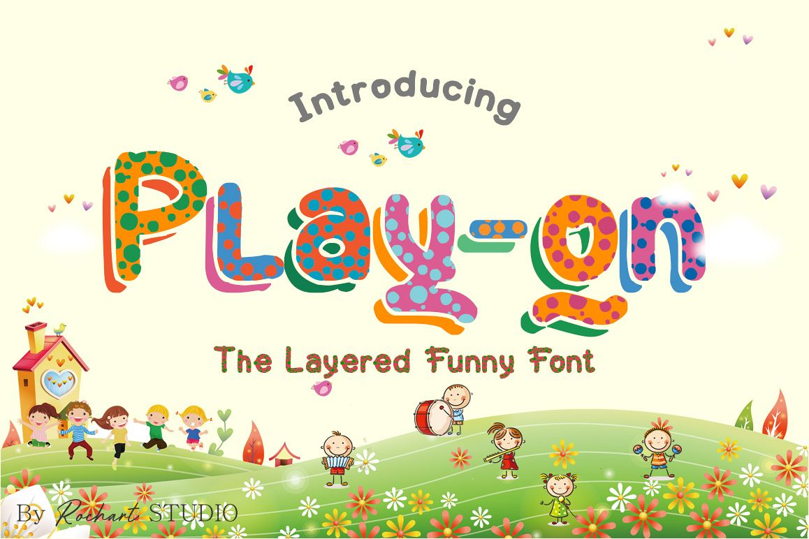 Play-on || UPDATE with Layered Font example image 1
