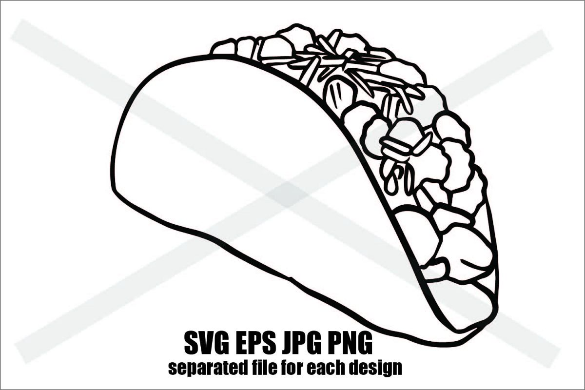 Just Taco- SVG EPS JPG example image 1