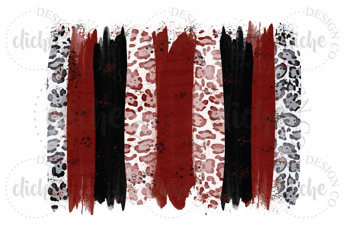 Red Black Paint Stroke Sublimation Design Background example image 1