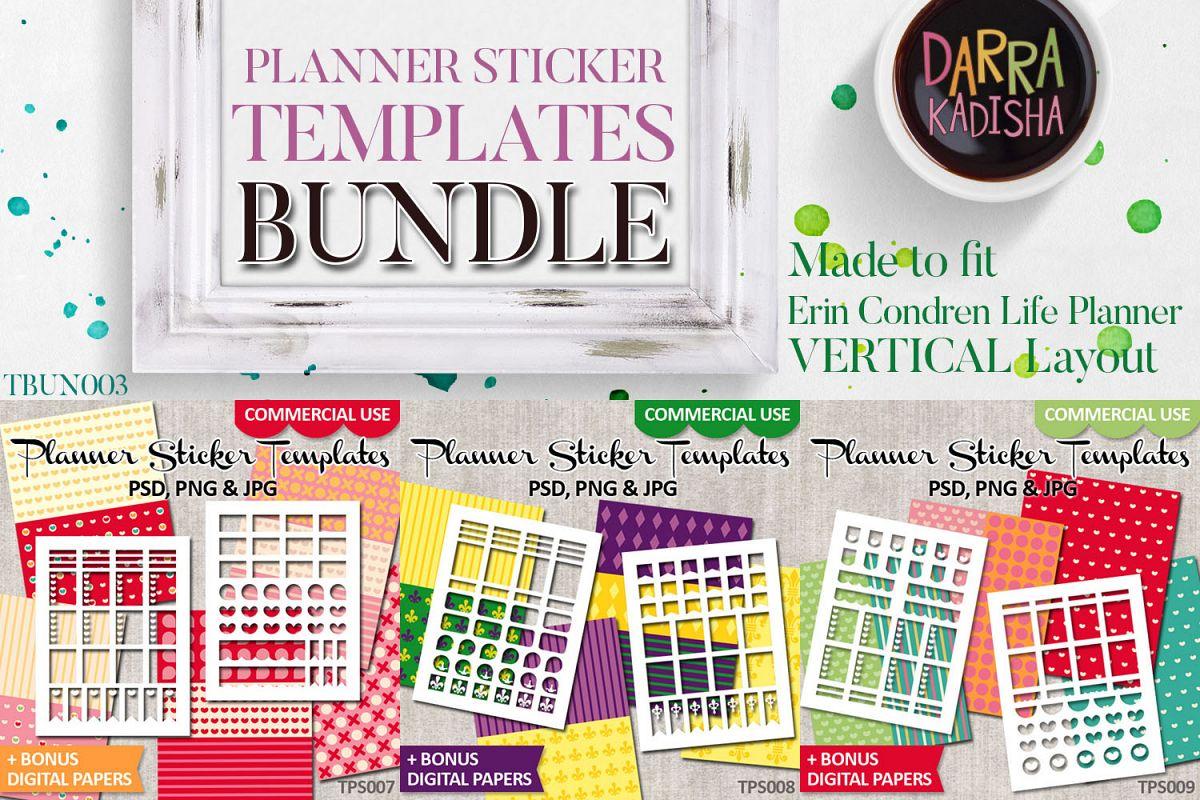 Planner Stickers Templates Bundle Vol. 3 - Digital Kit example image 1