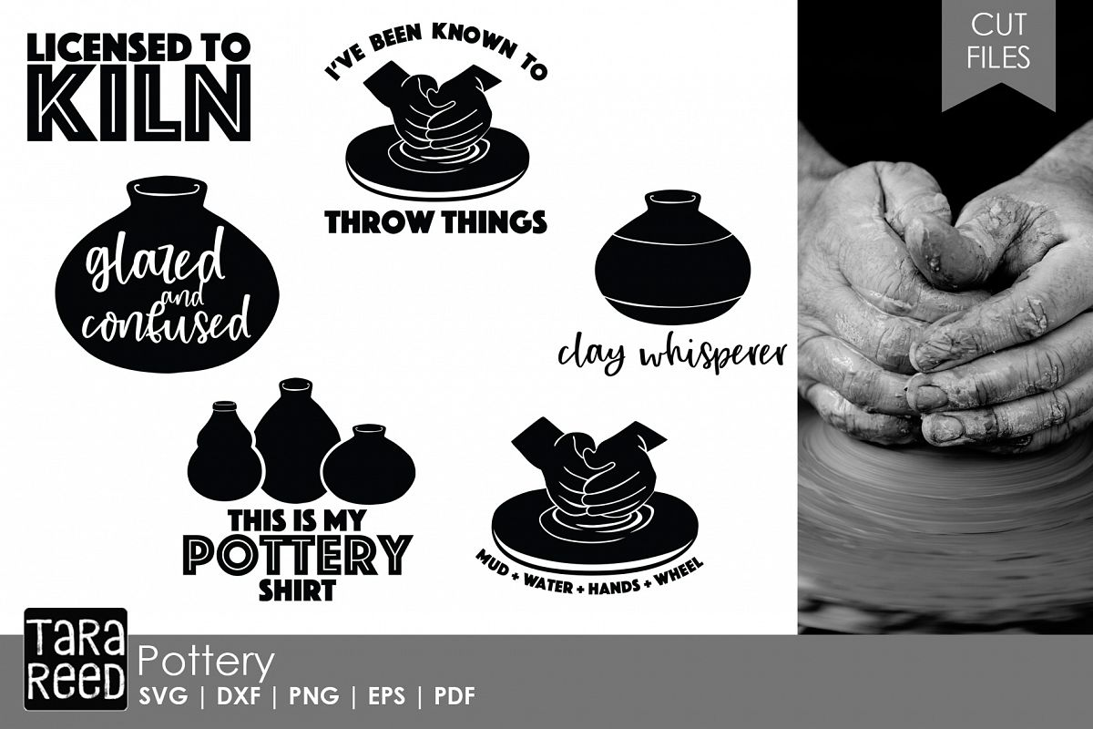 Pottery SVG and Cut Files for Crafters example image 1