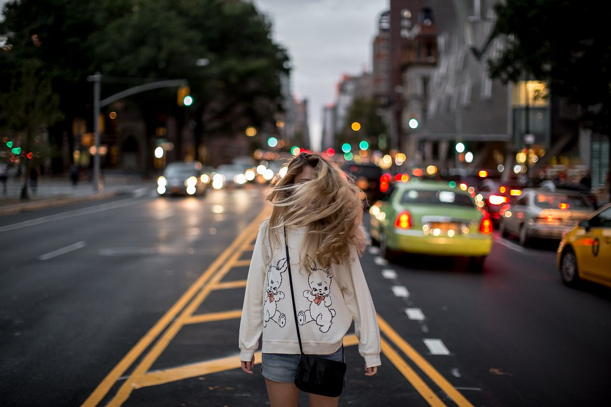 Girl walking on the driveway  example image 1