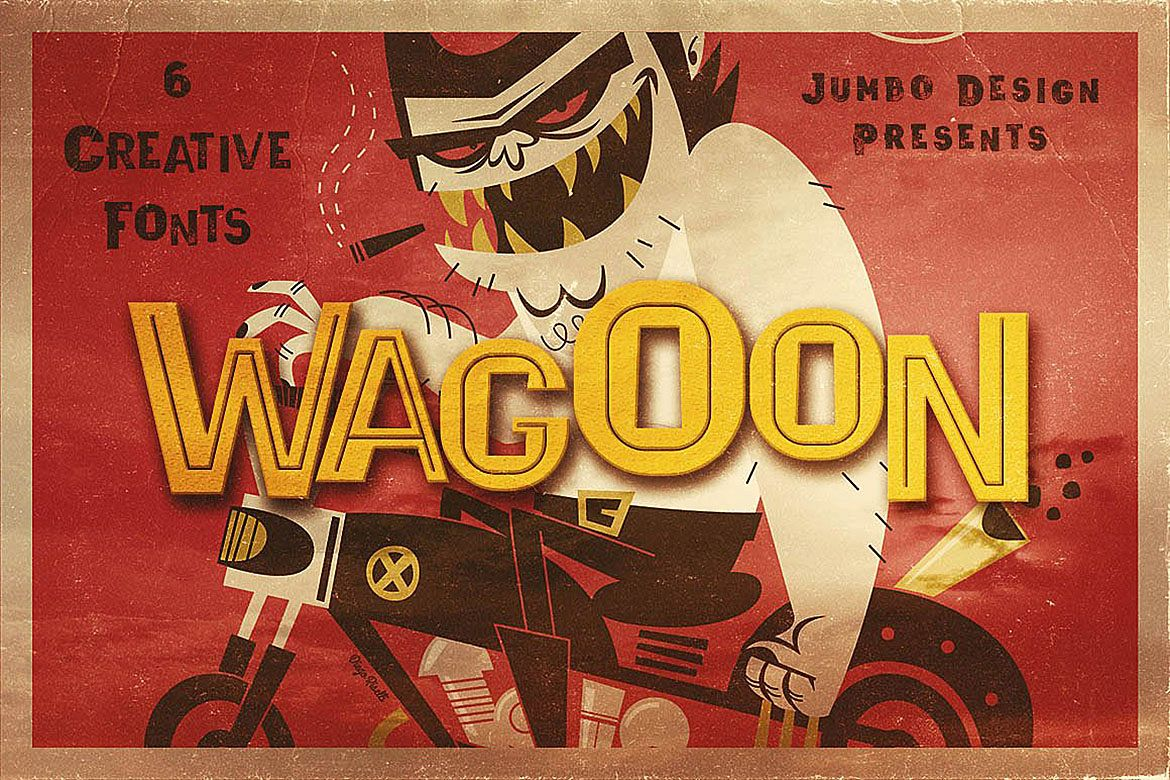Wagoon - Funny Style Font example image 1