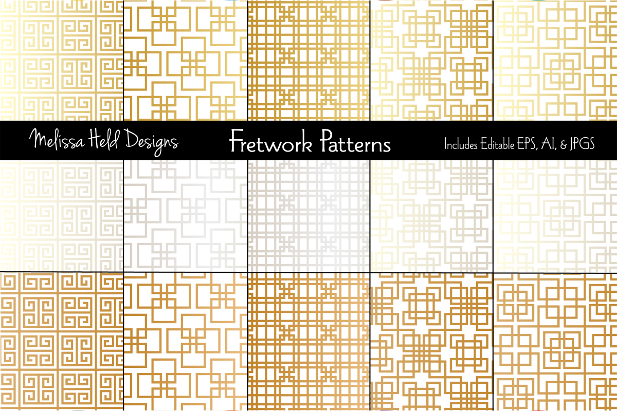 Metallic Fretwork Patterns example image 1