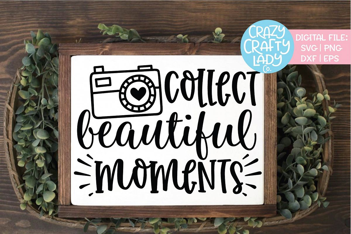 Collect Beautiful Moments Camera SVG DXF EPS PNG Cut File example image 1