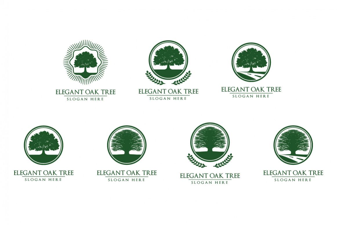 Green Oak Tree Logo vol 2 example image 1